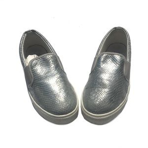 Top Shop Silver Slip-On Shoes